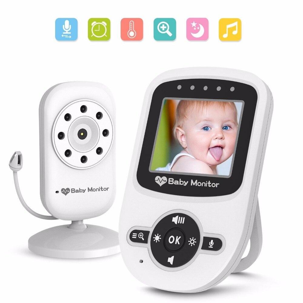 babykam baby phone camera nanny video baby monitor 2.4 inch LCD IR Night Vision 2 way talk Temperature Monitor Lullabies 2X Zoom