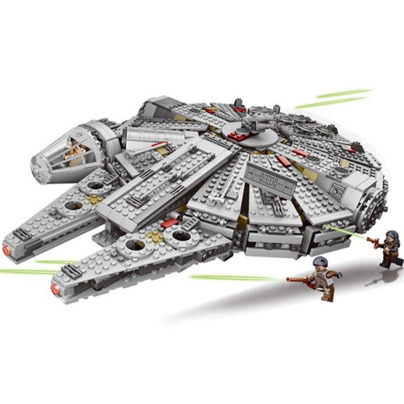Nouveau 1381 pièces Star Wars Falcon Figure super héros jouets blocs de construction ensemble marvel compatible 75105