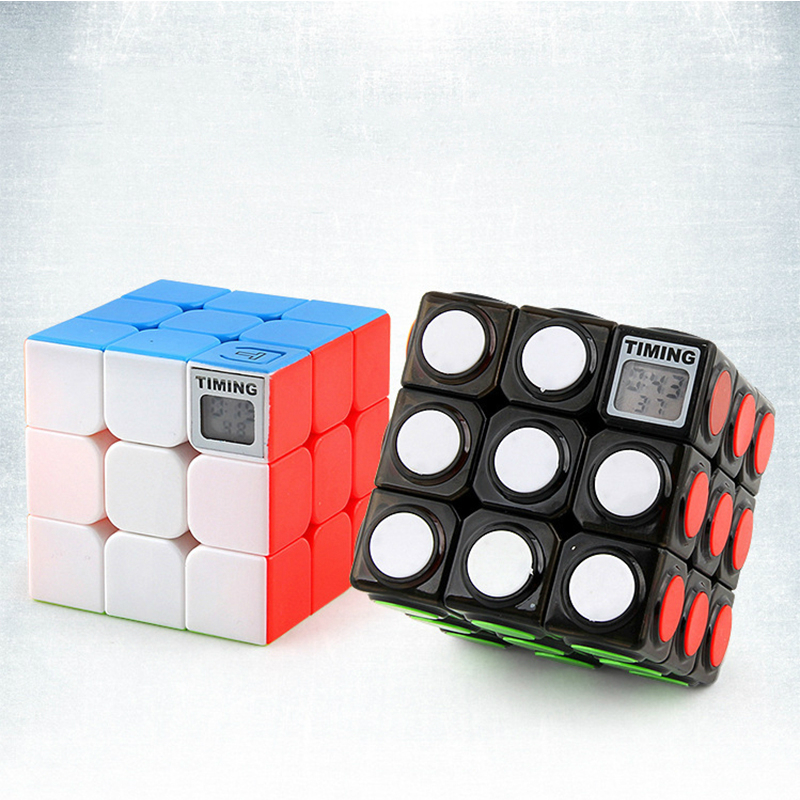 3x3x3 Magic Cube With Timer Professional Kids Competition Speed Puzzle Cube Toy For Children Cool Toy For Adult Birthday Gifts