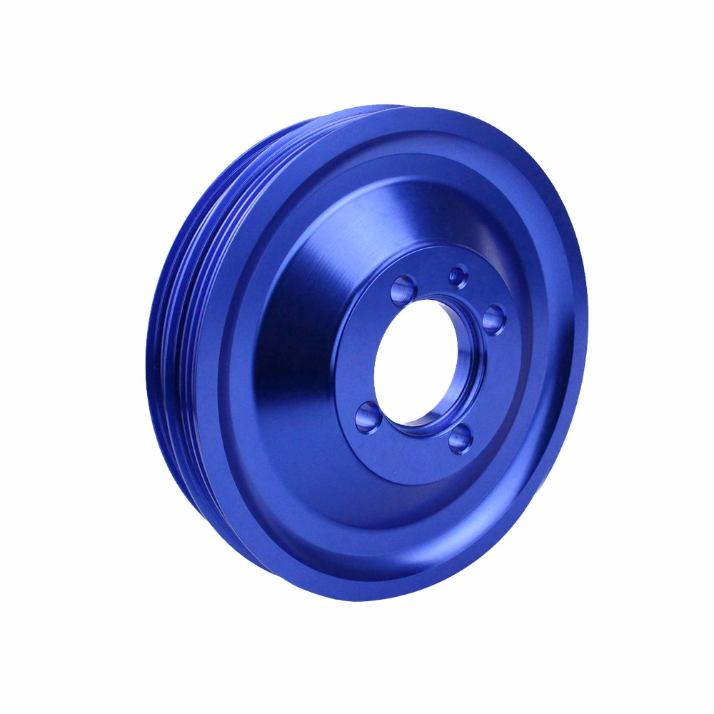 CNSPEED Free shipping Racing For Mitsubishi Evo 1 2 3 4g63 Crank Pulley Ctr Crank Shaft Case Harmonic Balancer Pulley Wheel ...
