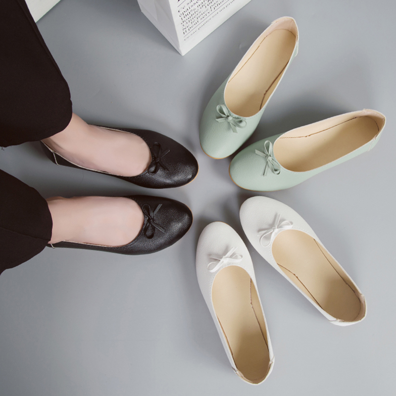 Women Flats shoes Bow Knot Slip on Flat Shoes Comfortable Woman Black Loafers Wihte Ballet Flats Ladies Boat Shoes women s flats shoes spring autumn comfortable square toe metal decoration slip on ballet flats ladies boat shoes casual loafers