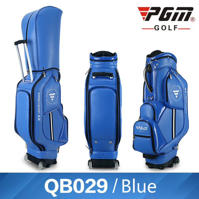 Pgm Multifunctional Golf Standard Ball Bag Professional Leather PU Waterproof Golf Cart Club Airbag High Capacity Package D0085