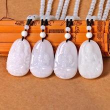 f1a43ff14f43 Jade Cristal de piedra Natural Buda tutor bola cadena Lucky regalo haciendo  tallado mujeres hombres joyería Anime cadena DK