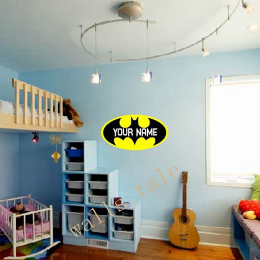 Online Buy Wholesale Wall Sticker From China Wall Sticker   Batman Bedroom  Decorating Batman Decor. Batman Bedroom Decorating   dact us