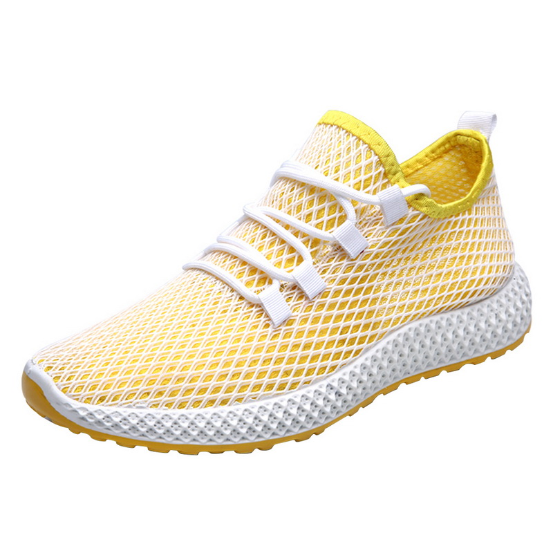 Oeak Mens Mesh Flats Shoe Summer Sneakers Breathable Fashion Casual Shoes Light  Running Man Outdoor Shoes(China)