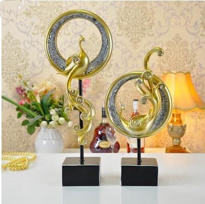 Résine créative rétro phoenix oiseau artisanat, décorations de bureau à domicile, cadeaux de mariage