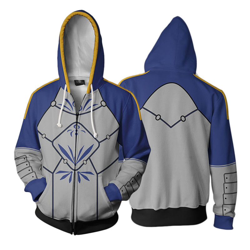 3D Printed Hoodie Anime Fate Grand Order Altria Pendragon Cosplay Zip Up Jacket Clothes Winter Hooded Sweatshirt Streatwear Coat
