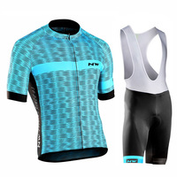 NW 2018 Summer Cycling Jersey Set Breathable Team Racing Sport Bicycle Jersey Mens Cycling Clothing Short Bike Jersey Northwave