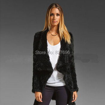 New style Free Shipping Really Rabbit Fur Knitted Long Coat New Release Lapin Garment Fur Jacket High Quality Fur Outwear Vest