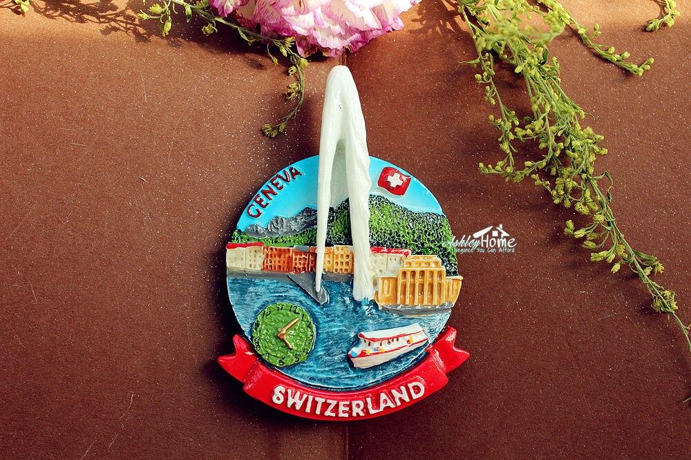 Suisse 3D Résine tourisme Souvenir Cadeau Thermostat Réfrigérateur Aimant