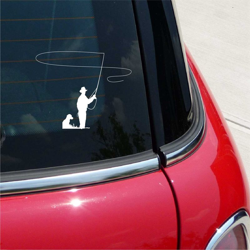 FREE SHIPPING Fly Fishing Decal Car Truck Bumper Window Sticker - Window stickers for cars canada