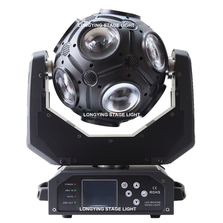 Free Shipping 12x20w RGBW 4IN1 LED Football Moving Head Beam Light Led Dj Disco Stage Ball Light For Dj Party