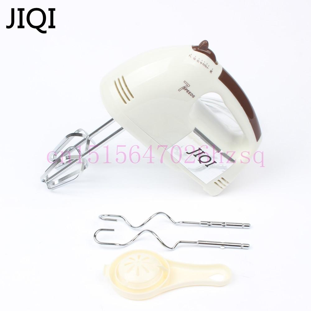 JIQI 180W Egg Beater Electric Mixer Hand Mixer Stainless Steel Egg Beater 7 Speeds Control With 2 Powder Bar EU US Plug handheld