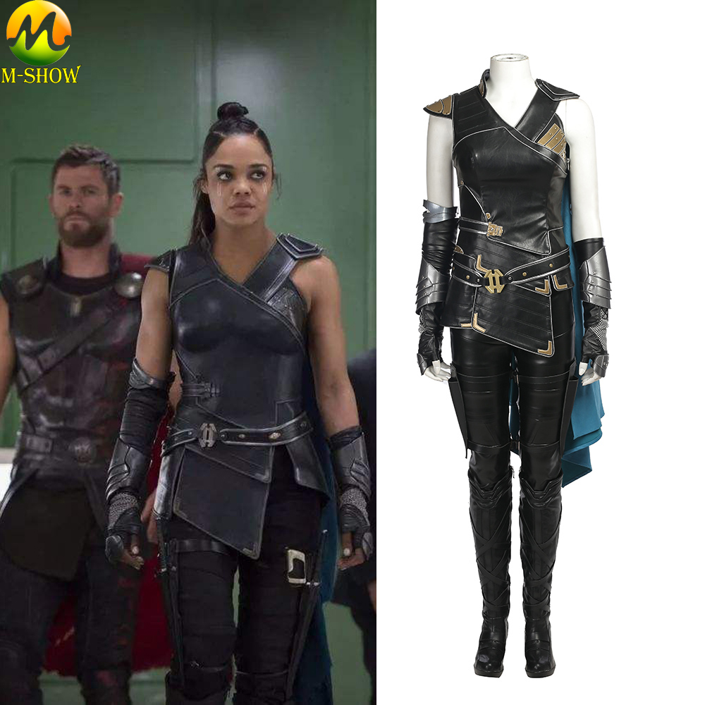 Movie Thor Ragnarok Cosplay Costume Thor 3 Valkyrie Cosplay Costume Superhero Women Full Set For Halloween