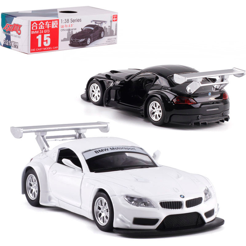 1:38 Scale Z4 GT3 Alloy Pull-back Car Diecast Metal Model Car Model Toy For Collection Friend Children Gift