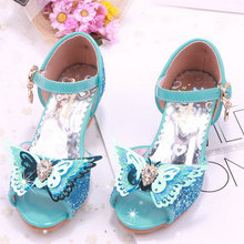 girl shoes kids dress shoes kids girls sandals high heel children shoes summer princess sandal butterfly wedding party shoes girls roman sandals for kids princess shoes summer fashion high heels soft leather children open toe sandal dress wedding party