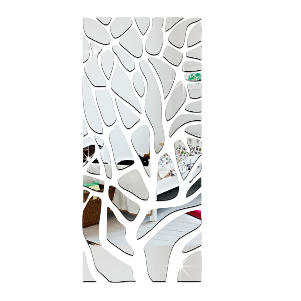 51 Pieces Lot 3d Acrylic Mirror Wall Stickers Living Room Tv Backdrop Affixed Rectangular Strip Skirting Silver And Gold Stickers Living Acrylic Mirror Wall Stickermirror Wall Stickers Aliexpress