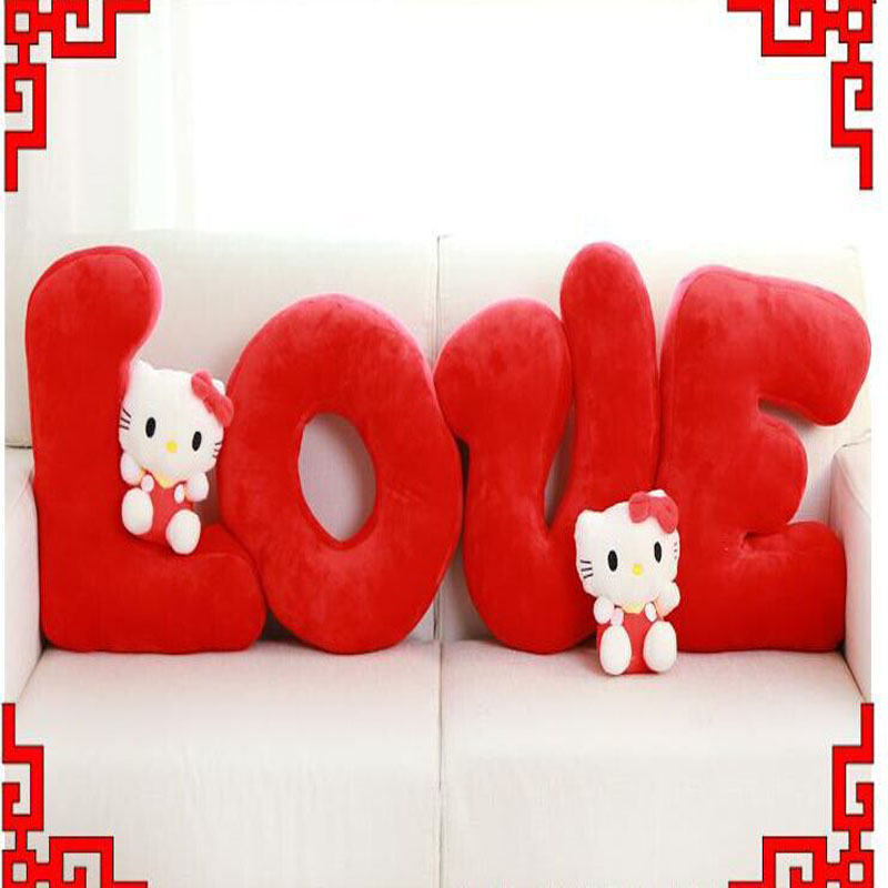 Creative Soft Four Love letter Pillow plush toy Valentines day Love Gift creative simulation plush soft fox naruto toy polyethylene
