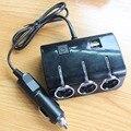 Бесплатная доставка 3 Розетки 120 Вт Автомобилей Прикуривателя Splitter 2Usb Порты Зарядное Устройство Адаптер С Выключателем Автомобиля Аксессуар