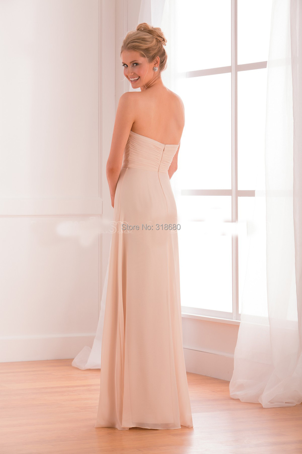 3a36fdf4b44 Top Quality V Neck Lace Top Sexy Bridesmaid Dresses Misty Pink ...