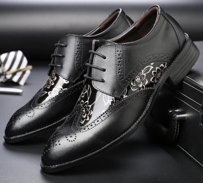 0d7052fefba Hommes À 1 Robe Bullock D affaires Marque Mens Chaussures 3 Mariage  Véritable 2 Noir Phenkang Costume Lacets En Cuir ...