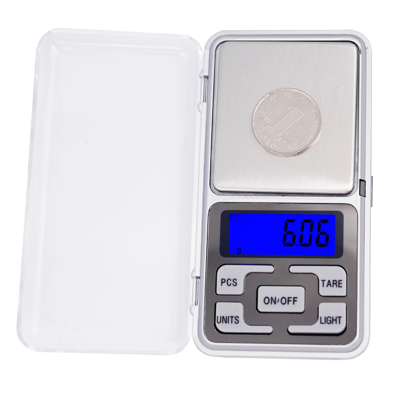 10pcs lot 500g 0 01g LCD Display with backlight Mini Electronic Digital Jewelry Pocket Balance Weighing