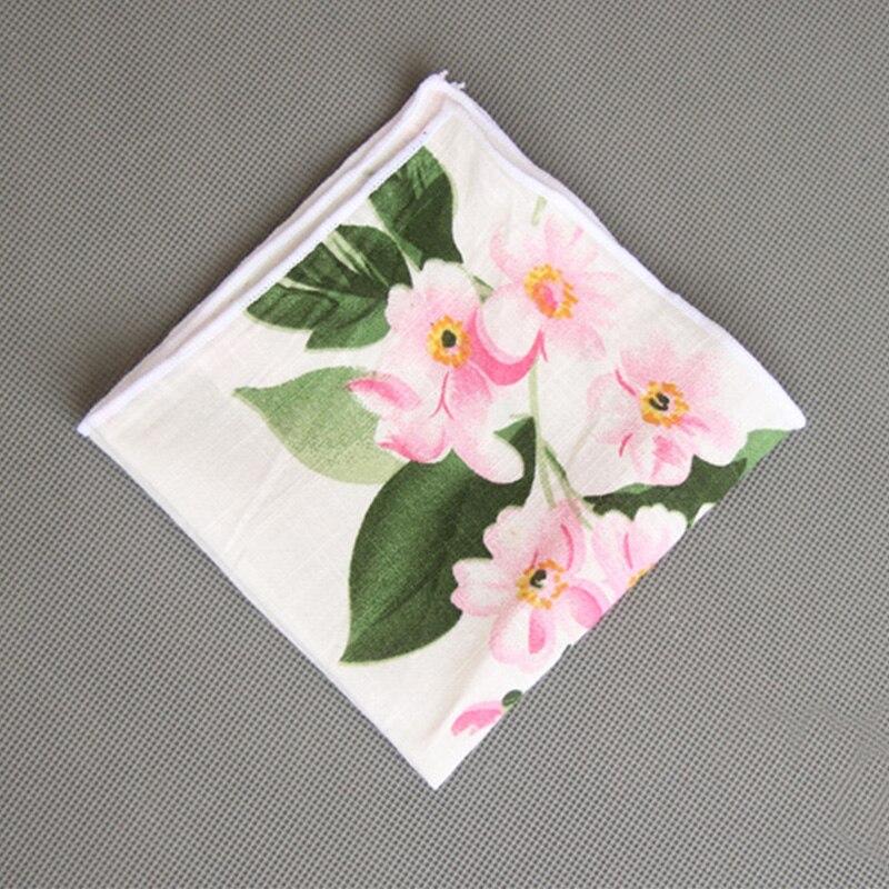 Formal Wear Business Suit Pocket Square Handkerchiefs Fashion Casual Mens Hanky Wedding Cotton Floral Handkerchief