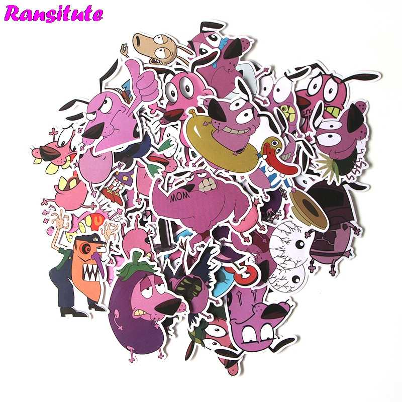 38Pcs/set COURAGE The Cowardly Dog Sticker poster Waterproof Car Sticker Trolley Case Sticker DIY Cool Skateboard Decal R381