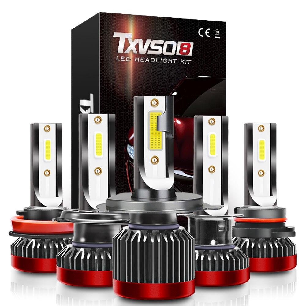 TXVSO8 G2R Super Lumineux Voiture lampe à LED H1 H4 H7 H8 H9 H11 HB3 9005 HB4 9006 Ampoule 110W 28000LM Automobiles Phare 6000K