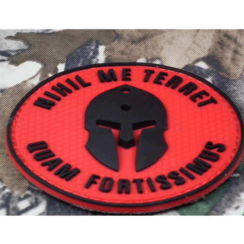 f3e4be8bf44 Molon Labe BADGE Nothing frightens Me nihil me terret Tactical Morale USA  ARMY PVC the champion badges For Clothing Caps-in Patches from Home    Garden on ...