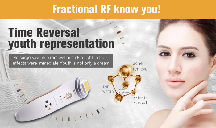 цена на New Radio Frequency Face Care Skin Lifting Tighten Wrinkle Massage Anti Aging Device Fractional RF Facial Rejuvenation Machine