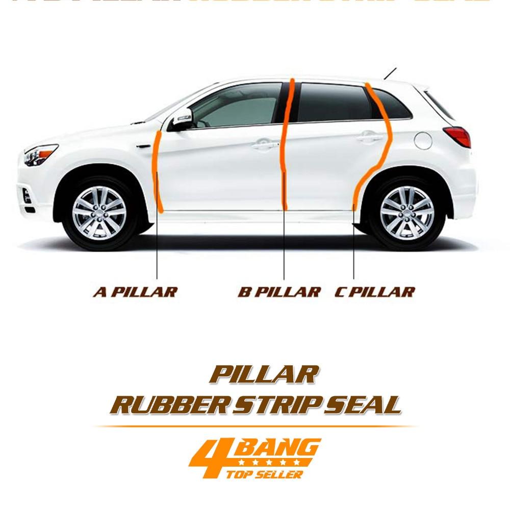 A B C колонна односторонняя звукоизоляция автомобиля Стайлинг Отделка Резиновый комплект для Lada/hyundai/Kia/газ/VW/Renault/Toyota/Nissan/Skoda