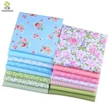 Shuanshuo  45*53CM Fat Quarters Bundles Fabric 15 Mixed Design Textiles For Pathcwork Sewing Doll Cloth DIY Crafts 15PCS/LO