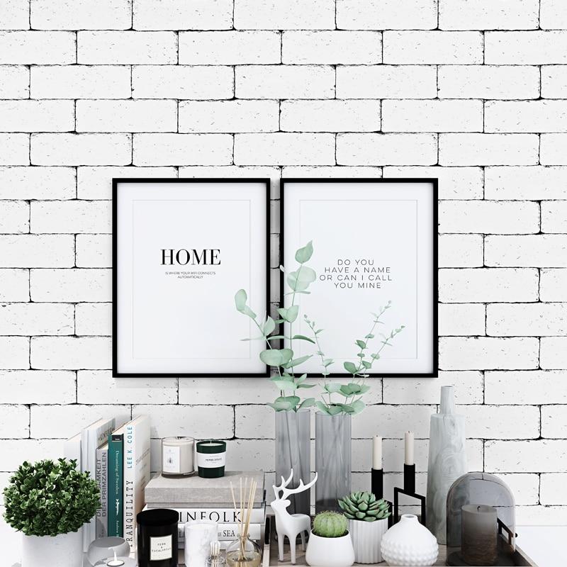 Vintage White 3d Brick Wallpaper Nordic Waterproof Wall Paper Roll For Shop Bar Background Walls Contact Paper Carta Da Parati Wallpapers Aliexpress