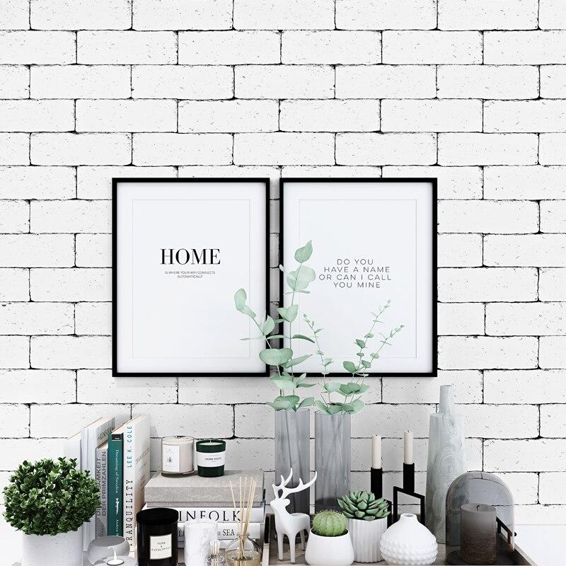 Vintgae 3D White Brick Wallpaper Nordic Waterproof Wall Paper Roll For Shop Bar Background Walls Contact Paper Carta Da Parati