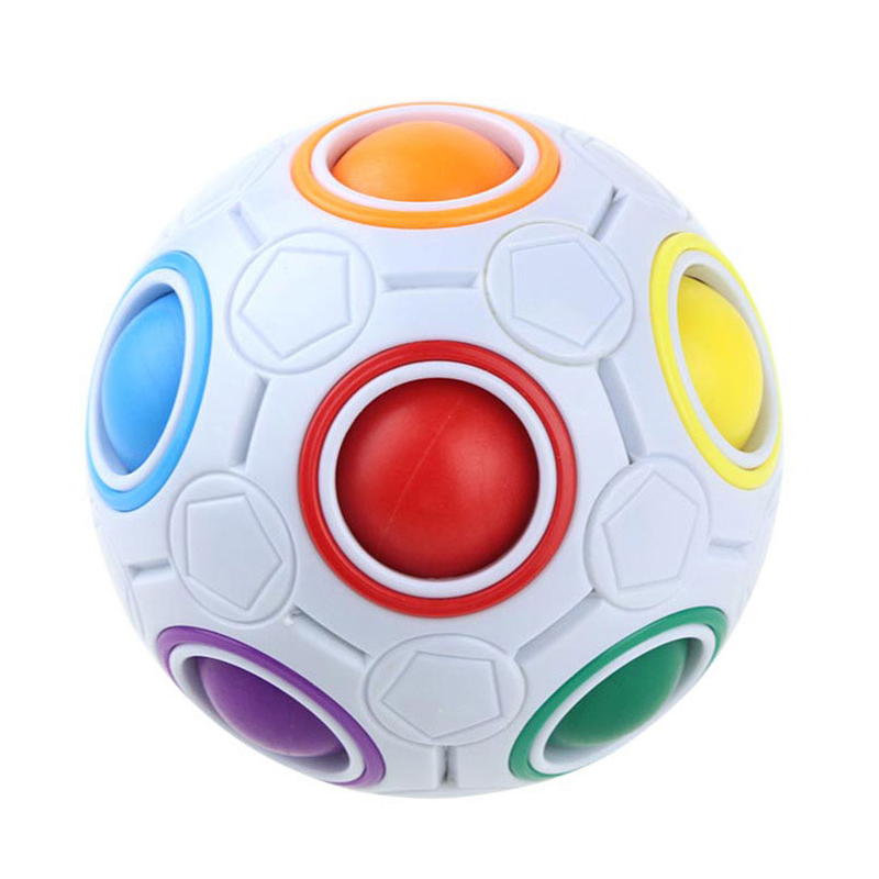WOTT Creative Magic Spherical Speed Rainbow Puzzles Ball Football Kids Educational Learning Puzzle Toys For Children Adult