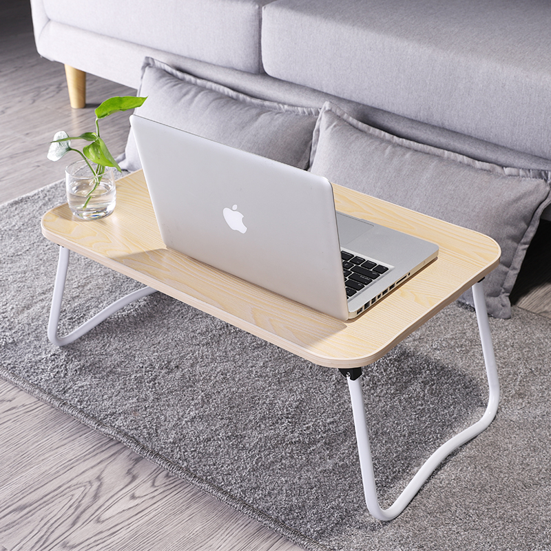 School Desk Organization Bamboo Wood Grain Wood Portable Folding Computer Desks Organization Simple Adjustable Standing Desk