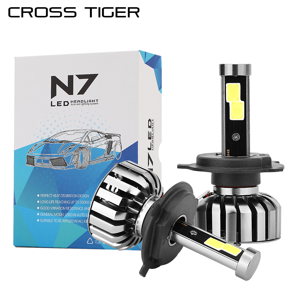 CROSS TIGER LED Car Headlight N7 8000 High Luminous Auto Bulb H1 H3 H4 H7 H13