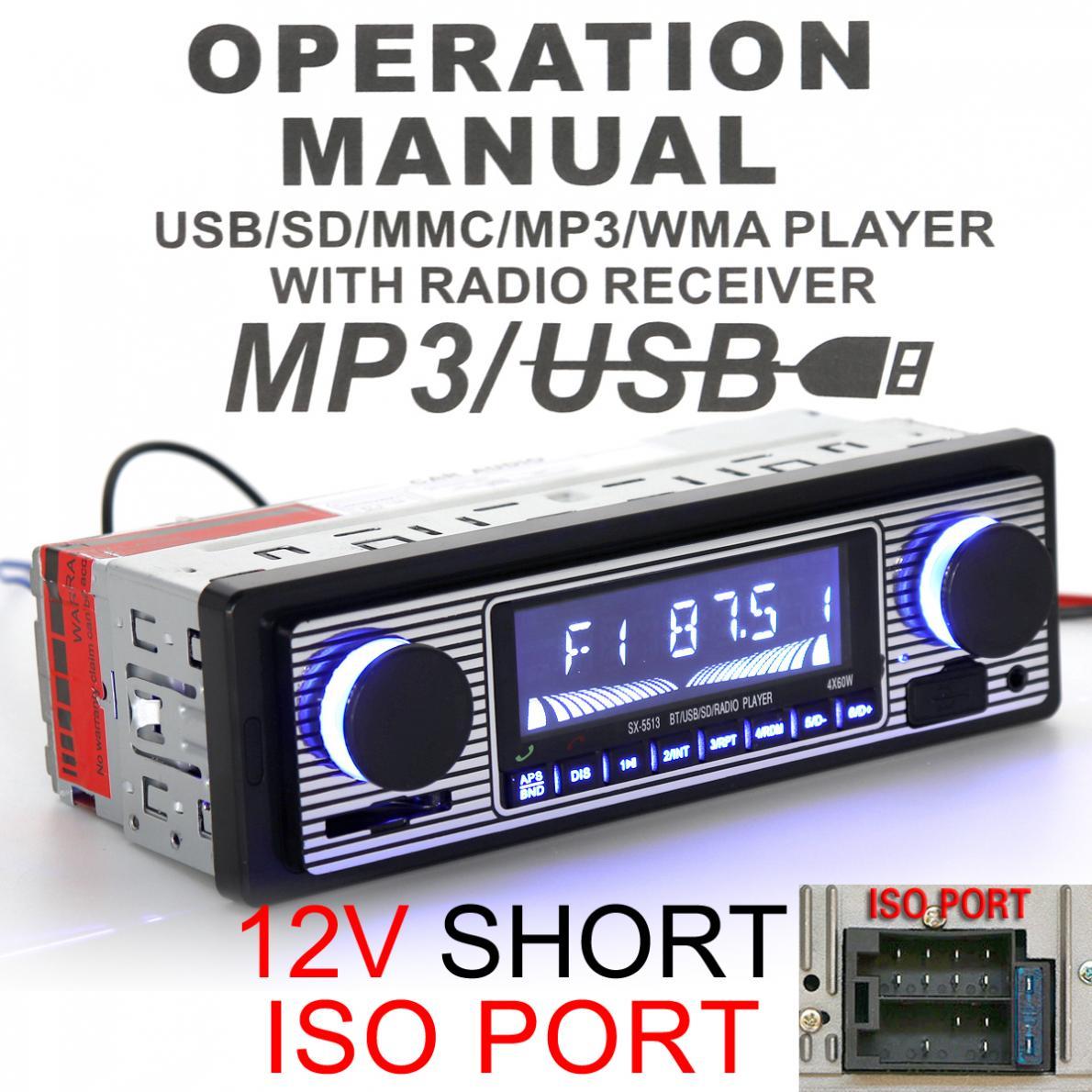 12V font b Car b font font b Radio b font MP3 Player Bluetooth Vehicle Stereo