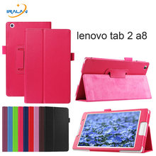 2017 hot Case For lenovoTab 3 8 8.0 inch TB3-850F 8 inch PU leather stand protective cover for lenovo tab 2 A8-50 tablet free(China)