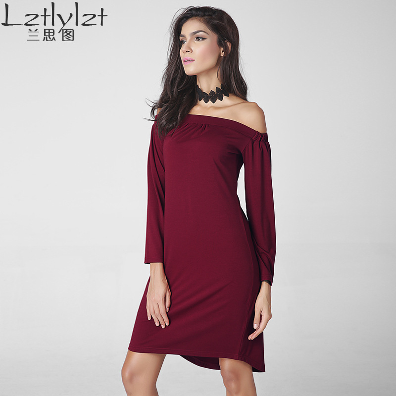 Vestidos De Fiesta Rushed Cotton Sexy Club Solid Plus Size Dress