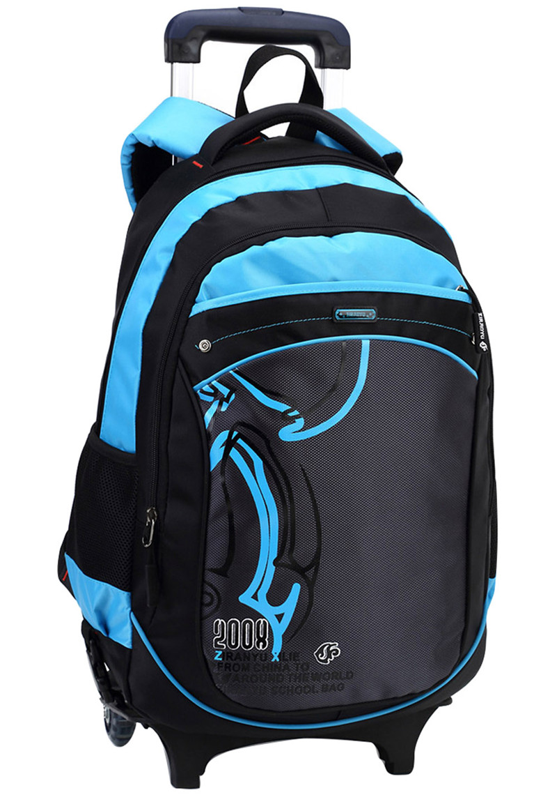 School bag with wheels singapore - Hot Boys Trolley Backpack Girls Wheeled School Bag Children Travel Luggage Suitcase On Wheels Kids Rolling