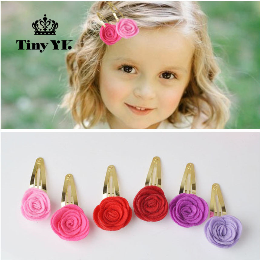 Hot Sale Summer Style Cloth Snap Clip Barrettes Bloom Flower Children Hair Accessories Pearl Hairpins Baby Hair Clips 1pc hot fashion woman hairpins hair barrettes clamp clip crystal hairpin barrettes hair accessories