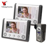 Yobang Security 7 Video Door Phone Hands Free Monitor Camera Intercom Doorbell Call System For House Families Villa Security