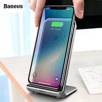 Baseus 10W Qi Wireless Charger For iPhone X XS Max Xr Samsung S9 S8 Note 9 Fast USB Desktop Wireless Charging Pad Dock Station