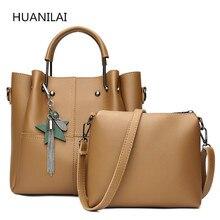 HUANILAI Women Bags Sets PU Leather Handbag Designer Practical Composite Ladies Shoulder High Quality  RM05