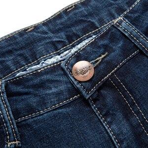 Image 5 - Selecionado jeans magros masculinos luz ajuste fino meados da cintura jeans para homens roupas pretas com bolsos laterais 2111 cartelo nova marca 2019