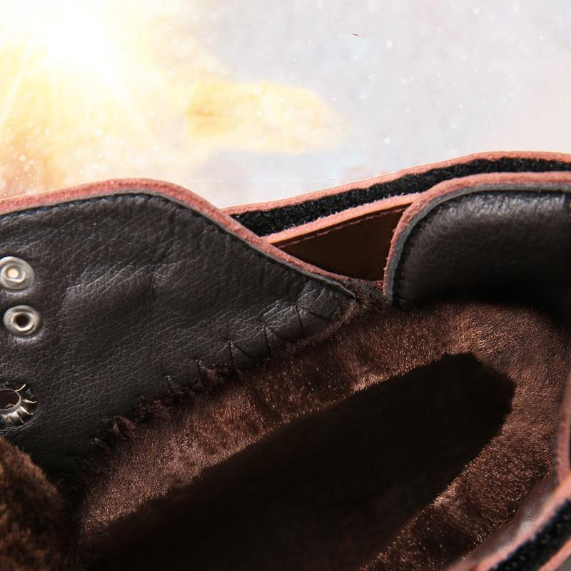 crazy Lace En Hiver Confortable Air Hommes Doux Neige Noir Chaussures Brown Travail Horse Bottes De Étanche Plein Up Martin Cheville wCxTnS