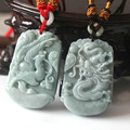 Natural  dragons and phoenixes of jade pendant couple pendant