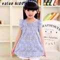 Value Kids dresses for girls 2016 summer School sundress cotton princess dress  clothing children vestidos  baby clothes NQ-14